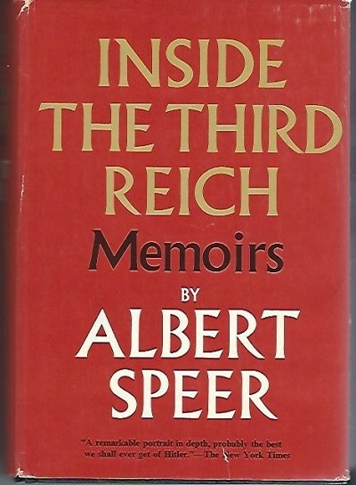 Image for Inside The Third Reich Memoirs by Albert Speer