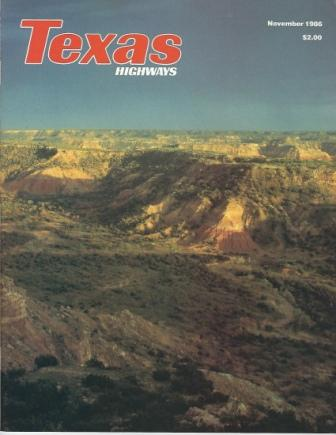 Image for Texas Highways Magazine, November 1986 The Official Texas State Travel Magazine