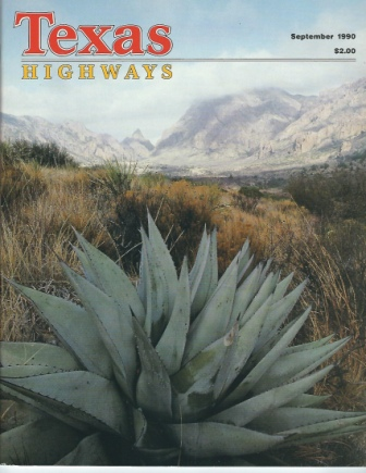 Image for Texas Highways Magazine, September 1990 The Official Texas State Travel Magazine