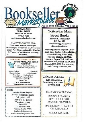 Image for Bookseller Marketplace, Jun 15, 2001 B Edition, Vol 1, No. 11 Published Twice Monthly