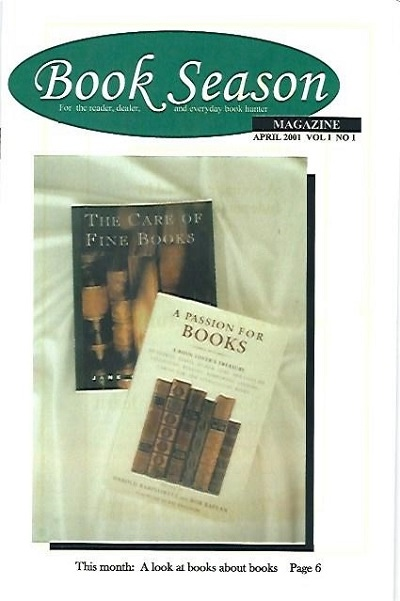 Image for Book Season Magazine April 2001, Vol. 1 No. 1