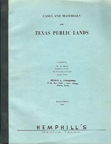 Image for Cases And Materials On Texas Public Lands