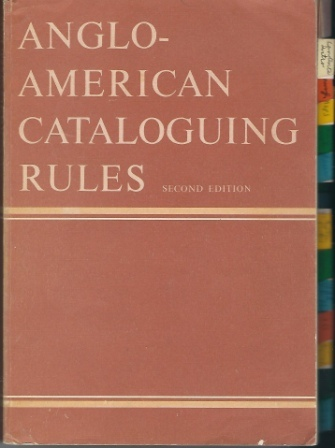 Image for Anglo-american Cataloguing Rules Second Edition