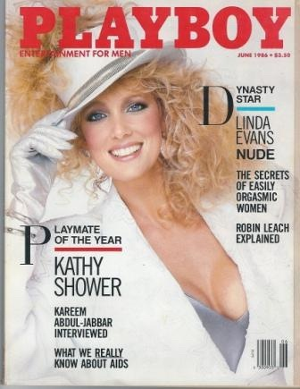 Image for Playboy Magazine Entertainment For Men, June 1986, Playmate Of The Year Kathy Shower