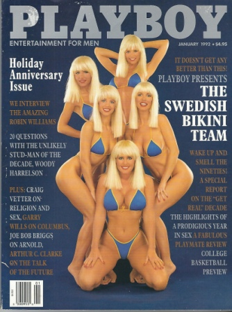 Image for Playboy Magazine Entertainment For Men, Holiday Anniversary Issue, January 1992, The Swedish Bikini Team