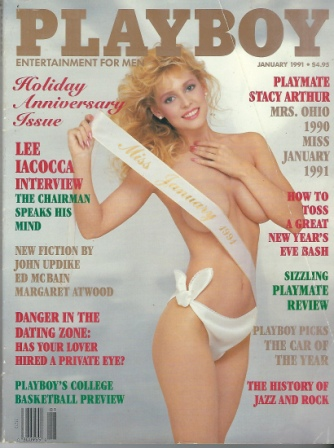 Image for Playboy Magazine Entertainment For Men, January 1991, Holiday Anniversary Issue, Stacy Arthur