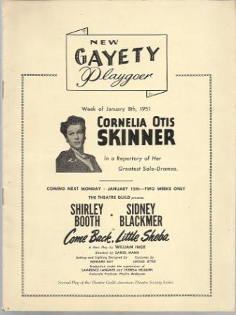 Image for Cornelia Otis Skinner In a Repertory of Her Greatest Solo-Dramas
