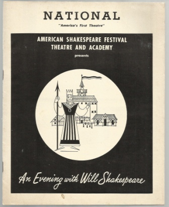 Image for An Evening With Will Shakespeare A Presentation by American Shakespeare Festival Theatre and Academy