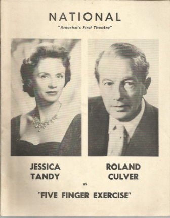 Image for Five Finger Exercise Starring Jessica Tandy and Roland Culver