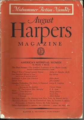 Image for Harper's Magazine, August 1938, #1059 Midsummer Fiction
