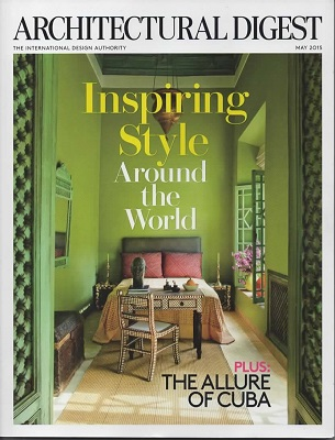Image for Architectural Digest May 2015, Volume 72, Number 5 The International Magazine of Interior Design, Inspiring Style around the World