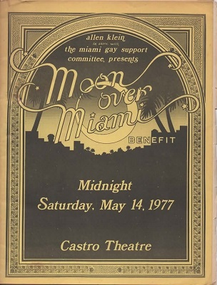 Image for Moon Over Miami Benefit Saturday, May 14, 1977, Castro Theatre