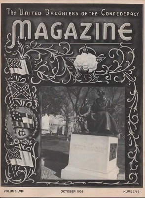 Image for United Daughters Of The Confederacy Magazine October 1995, Volume LVIII, Number 9