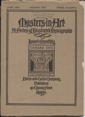 Image for Masters In Art, A Series Of Illustrated Monographs, June 1903: Gerard Dou Part 42, Volume 4