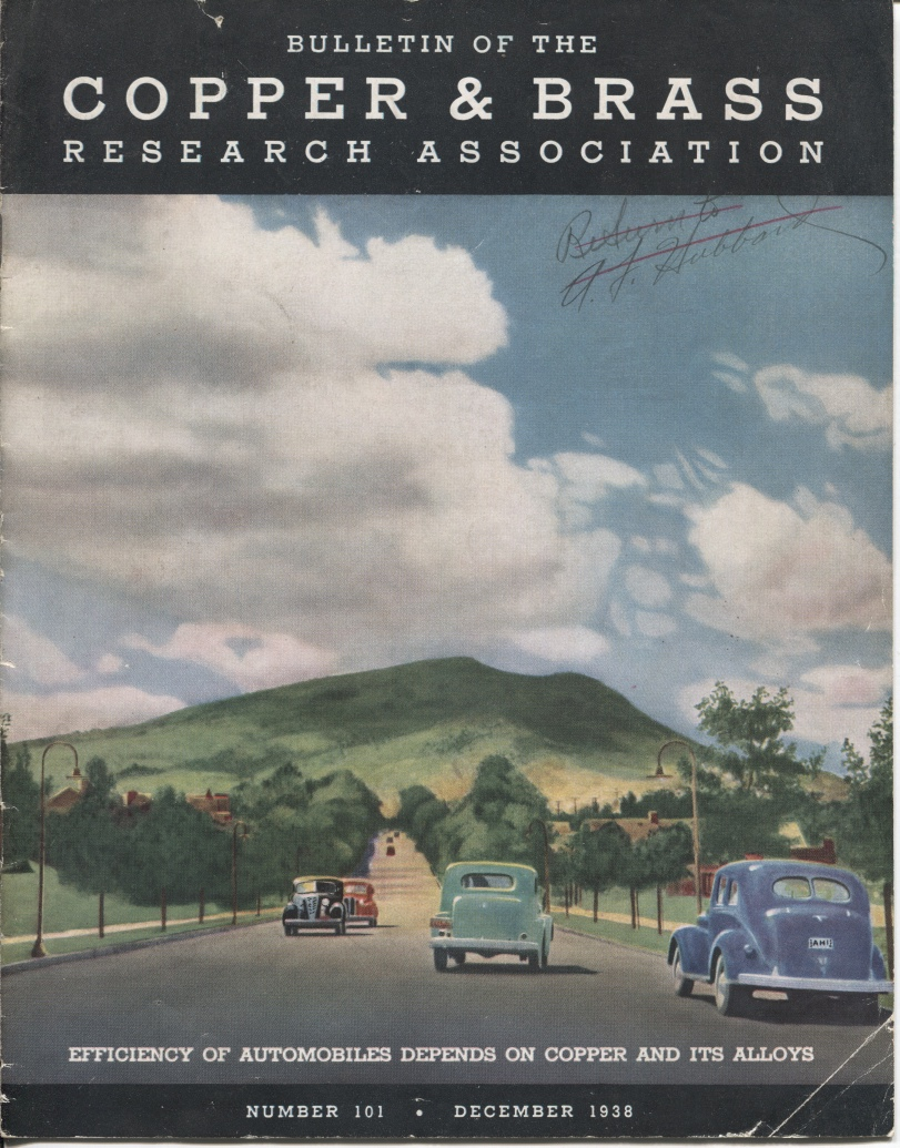 Image for Bulletin Of The Copper & Brass Research Association Efficiency of Automobiles Depends on Copper and its Alloys, Number 101, December 1938