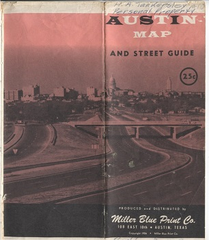 Image for New Revised Enlarged Map & Street Guide Of Austin, Texas 1956