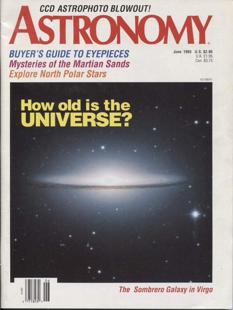 Image for Astronomy, June 1993, Volume 21, No. 6 20th Anniversary Year