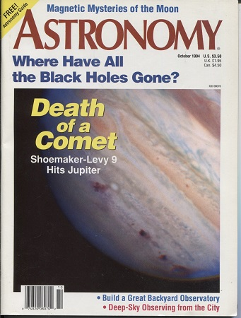 Image for Astronomy, October 1994, Volume 22, No. 18 With Free Astronomy Guide