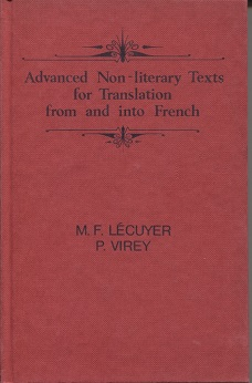 Image for Advanced Non-literary Texts For Translation From And Into French