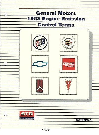 Image for General Motors 1993 Engine Emission Control Terms #GM-TERMS.01